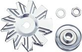 1963-83 Chrome Alternator Fan And Pulley Set