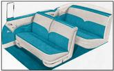 1955 Bel Air Convertible Ivory / Turquoise  Upholstery Set