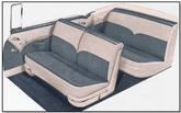 1955 Bel Air Convertible Ivory / Gray Upholstery Set