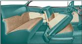 1955 Bel Air 2-Door Hardtop Green Vinyl / Beige Cloth Upholstery Set