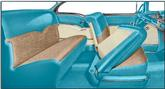 1955 Bel Air 2-Door Hardtop Turquoise Vinyl / Beige Cloth Upholstery Set