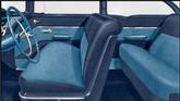 1955 CHEVROLET 210 4 DOOR SEDAN MEDIUM BLUE VINYL / LIGHT BLUE CLOTH UPHOLSTERY SET
