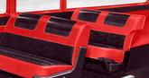 1957 Bel Air 4 Door 6 Passenger Wagon Red Vinyl/Black & Red Cloth Upholstery Set
