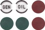 1957 Dash Indicator Lens Set