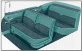 1955 Bel Air Convertible Medium Green / Dark Green Door Panel Set