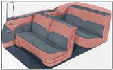 1955 Bel Air Convertible  Coral / Gray Door Panel Set