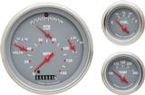 1957 Chevrolet Gray Face Tetra Series Gauge Set with Flat Glass