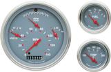 1957 Chevrolet Gray Face Tetra Series Gauge Set with Curved Glass