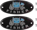 1955-57 CHEVROLET BODY BY FISHER SILL PLATE TAGS (EXEC 4 DOOR HARDTOP)