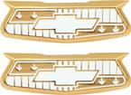 1955-57 Bel Air Gold Quarter Panel Crest Emblems