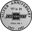 1957 CHEVROLET SILVER ANNIVERSARY WINDOW DECAL