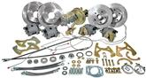 1955-57 CHEVROLET FRONT & REAR DISC BRAKE SET W/11 PLAIN ROTORS USED W/STOCK SPINDLES & OE REAR END