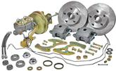 "1955-57 Chevrolet Stock Height 11"" Plain Rotors / 1 Piston Calipers Front Disc Brake Set"