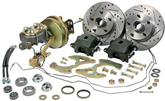 "1955-57 Chevrolet Stock Height 11"" Drilled Rotors / 1 Piston Calipers Front Disc Brake Set"