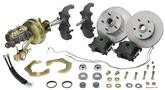 "1955-57 Chevrolet 2"" Drop Spindle / 11"" Plain Rotors / 1 Piston Calipers Front Power Disc Brake Set"