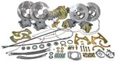"1955-57 Chevrolet 10/12 Bolt Rear End Front & Rear Disc Brake Set with 11"" Plain Rotors"