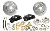 "1955-57 Chevy Front Big Brakes Kit with 13"" Rotors & Twin 52-mm Black Calipers"
