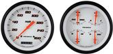 1947-53 Velocity White Series Gauge Set W/O Tach