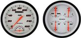 1947-53 Velocity White Series Gauge Set W/Tach
