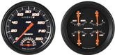 1947-53 Velocity Black Series Gauge Set W/Tach