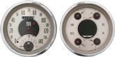 1947-53 All American Series Gauge Set W/Tach - Nickel