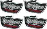 2010-13 CHEVY CAMARO LED TAIL LIGHTS - BLACK