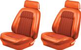 1969 Camaro Coupe / Convertible Hugger Orange Houndstooth Upholstery Front Sport Seat Upgrade Kit