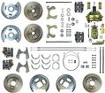1955-58 CHEVROLET 4 WHEEL POWER DISC BRAKE CONVERSION SET WITH 11 PLAIN ROTORS