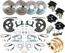 "1955-58 Chevrolet 4 Wheel Power Disc Brake Conversion Set with 11"" Drilled/Slotted Rotors"