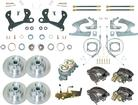 1955-64 CHEVROLET FULL-SIZE - 4 WHEEL MANUAL DISC BRAKE CONVERSION SET WITH 11 PLAIN ROTORS