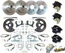 "1955-64 Chevrolet Full-Size 4 Wheel Manual Disc Brake Conv Set with 11"" Drilled/Slotted Rotors"
