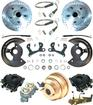 "1955-58 Chevrolet Front Power Disc Brake Conversion Set With 11"" Drilled / Slotted Rotors"