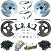"1955-64 Chevrolet Full-Size - Front Disc Brake Conversion Set With 11"" Drilled/Slotted Rotors"