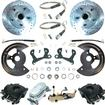 "1955-64 Chevy Manual Front Disc Brake Conversion Set w/11"" Drilled Rotors & Chrome Master Cylinder"