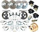"1959-64 Chevrolet 4 Wheel Power Disc Brake Conversion Set with 11"" Drilled/Slotted Rotors"