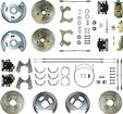 "1959-64 Chevrolet Full-Size 4 Wheel Manual Disc Brake Conversion Set With 11"" Drilled/Slotted Rotors"