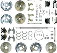 "1959-64 4 Wheel Manual Disc Brake Conversion Set W/11"" Drilled/Slotted Rotors & Chrome Master"