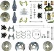 "1959-64 Chevrolet 4 Wheel Power Disc Brake Conversion Set With 11"" Drilled/Slotted Rotors-2"" Drpspn"