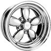 "17"" x 8"" American Racing Polished 200S Daisy Wheel with 5 x 4-3/4"" Bolt Pattern and +14mm Offset"