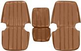 1967-68 TRUCK BUCKET SEAT UPHOLSTERY - LIGHT SADDLE