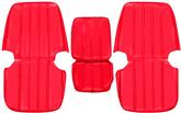 1967-68 TRUCK BUCKET SEAT UPHOLSTERY - BRIGHT RED VINYL