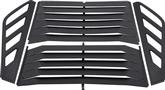 1982-92 F-BODY ALUMINUM REAR WINDOW LOUVERS 4 PIECE W/REAR WIPER W/O 3RD BRAKE LIGHT