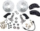 1967-69 F-BODY; 68-74 NOVA FRONT DISC BRAKE CONVERSION SET - WITH STOCK SPINDLES & BLACK CALIPERS