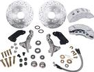 1967-74 Front Disc Conversion Set with Stock Spindles, Clear 8 Piston Calipers and Drilled Rotors