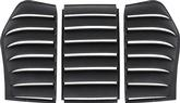 1982-92 Camaro / Firebird 3 Piece ABS Rear Window Louvers without 3rd Brake Light Cutout