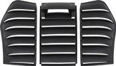1982-92 Camaro / Firebird 3 Piece ABS Rear Window Louvers with 3rd Brake Light on Rear Glass