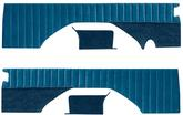87-91 BLAZER VELOUR REAR PANEL SET (BLUE)  WITH PLEATS