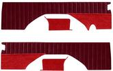 87-91 BLAZER VELOUR REAR PANEL SET (MAROON) WITH PLEATS