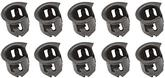 "Barrel Nut, Fits 1/8"" Emblem Stud, Fits 1/4"" Hole, Spring Steel, Phosphate Coated, 10 Piece Set"