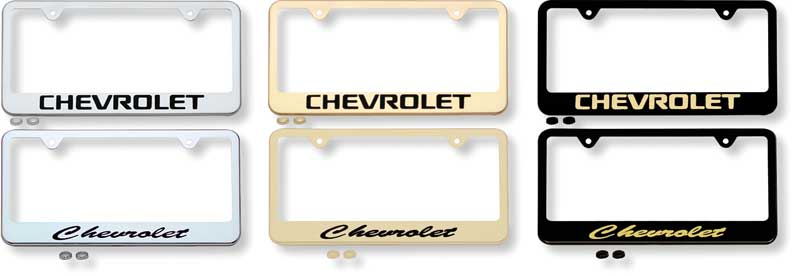 Chevrolet Block Logo Chrome License Plate Frame